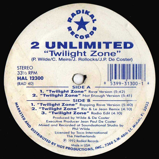 2 Unlimited - Twilight Zone (12