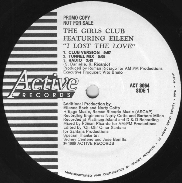 The Girls Club Featuring Eileen* - I Lost The Love (12