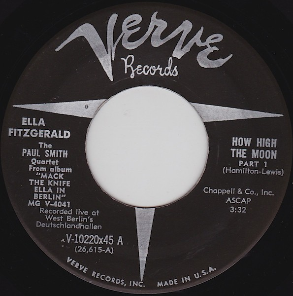 Ella Fitzgerald With The Paul Smith Quartet* - How High The Moon (7