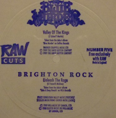 Blue Murder (2) / Brighton Rock - Valley Of The Kings / Unleash The Rage (Flexi, 7