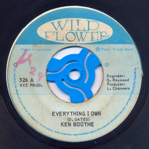 Ken Boothe / Charmers Big Band - Everything I Own / My Own Version (7