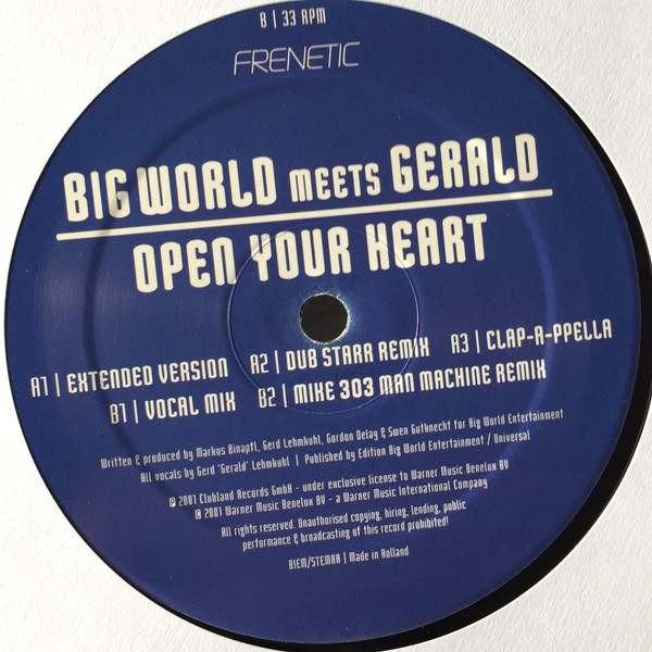 Big World Meets Gerald - Open Your Heart (12
