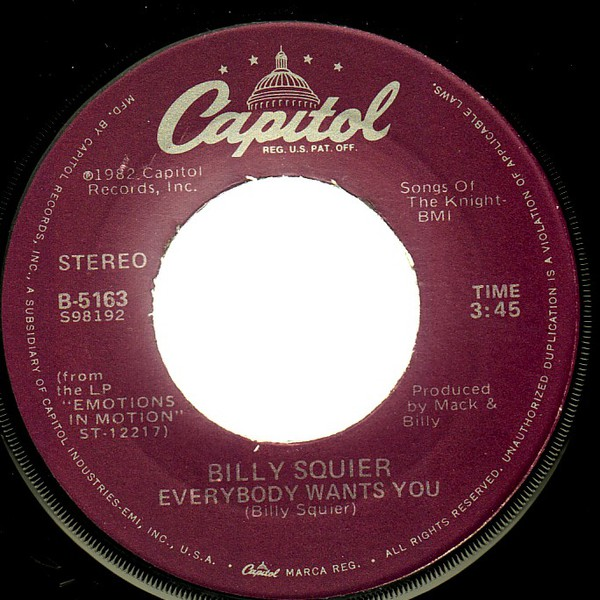 Billy Squier - Everybody Wants You (7