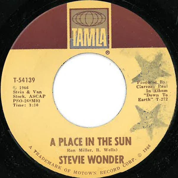 Stevie Wonder - A Place In The Sun / Sylvia (7