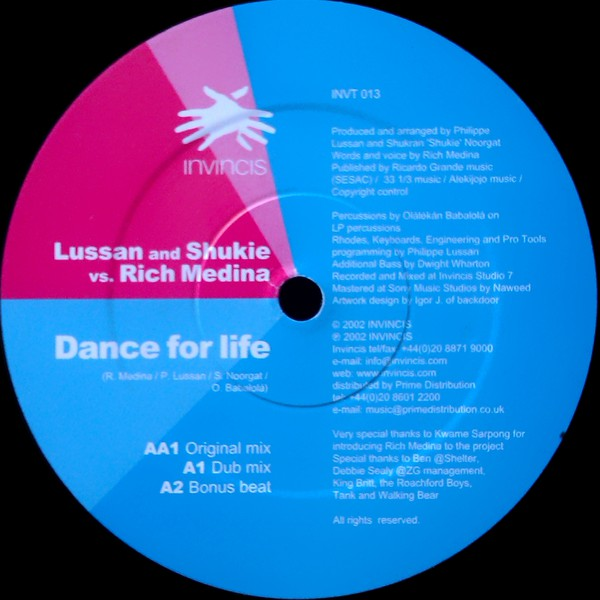 Philippe Lussan & Shukie vs Rich Medina - Dance For Life (12