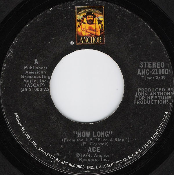 Ace (7) - How Long / Sniffin' About (7