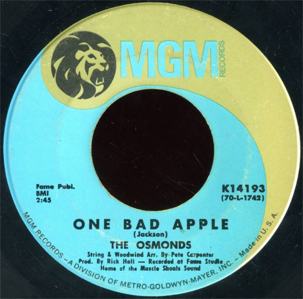 The Osmonds - One Bad Apple / He Ain't Heavy ...He's My Brother (7