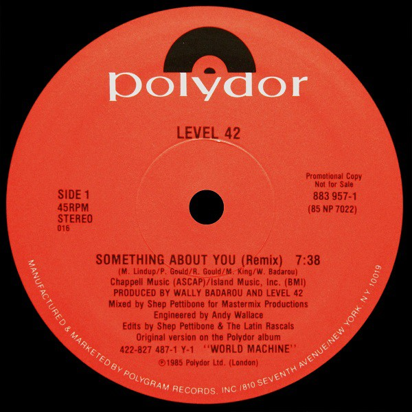 Level 42 - Something About You (Remix) (12