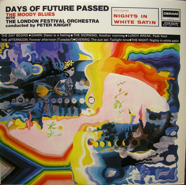The Moody Blues With The London Festival Orchestra Conducted By Peter Knight (5) - Days Of Future Passed (LP, Album, RE)